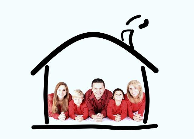 rodina dům